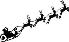 Santa Sleigh Silhouette Png Siluetas navidad on pinterest  <b>silhouette</b>, clip art and nativity
