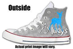 Harry Potter Always Custom Converse All Stars by ArkhamPrints