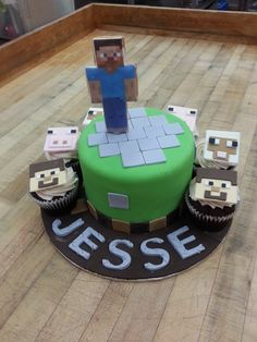 Those pixels can only mean one thing: Minecraft! One of our many Yummy Minecraft Cakes!