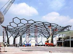 Pergola Attached To House Tree Structure, Membrane Structure, Organic Structure, Landscape Structure, Shade Structure, Canopy Architecture, Wood Architecture, Architecture Details, Artistic Installation