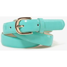 FOREVER 21 Patent Waist Belt ($4.80) ❤ liked on Polyvore featuring accessories, belts, blue, polyurethane belt, wide belt, fat belt, thick belt and wide blue belt