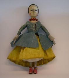 Lovely little doll in her original dress. Dollhouse Dolls, Miniature Dolls, Fabric Dolls, Paper Dolls, Bear Doll, Old Dolls, Little Doll, Wooden Dolls, Antique Photos