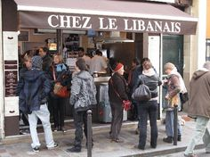 Chez le Libanais. One of my favorite spots to grab a bite to go.