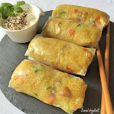ZonaVegetal: Rollitos de Papel de Arroz con Quinoa y Champiñones Portobello