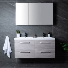 Lind luxury 120 grå baderomsmøbel m/dobbel servant mod. Double Vanity, Bathroom, Luxury, Design, Washroom, Bathrooms, Bath, Double Sink Vanity