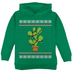 Old Glory Cactus Desert Feliz Navidad Ugly Christmas Sweater Mens Sweatshirt