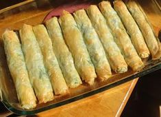 Spanakopita Rolls - so much easier doing it rolled up, rather than layer by layer, and a portable and nice appetizer.