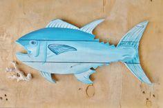 Custom Large Pallet Wood Tuna Sign  Sport Fish  by SeasideLane