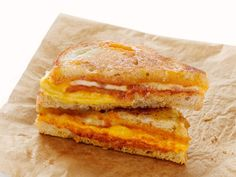 Three-Cheese Grilled Cheese recipe from Food Network Magazine via Food Network