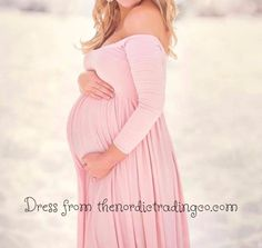 Mom to Be Baby Bump Pregnancy Portrait Dress / Maternity Photo Prop Gown One Size Teal Pink Purple Off-White Baby Shower Gift Expecting Moms
