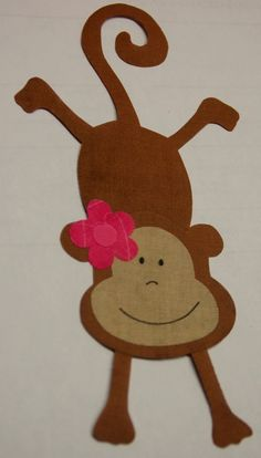 "monkey applique.  Leanne, we need this on a t-shirt or t-shirt type dress for Evelyn.  Geni calls her ""monkey.""  Maybe for her birthday."
