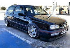 Vw Golf 3, Volkswagen Golf Mk1, Vw Mk1, Golf Mk3, Vw Cars, Drag Cars, Black Cars, Old Skool, Cars And Motorcycles