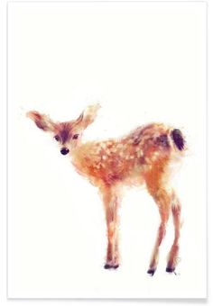 """""""Fawn"""" by Amy Hamilton — Premium Poster - ab € 12,00  inkl. MwSt. zzgl. Versand & Gebühren (from € 12,00  incl. tax, excluding shipping fees)"""