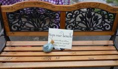 wedding bench guest book - Google Search