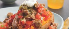 The #BiggestLoser recipe for South-of-the-Border Loaded Sweet Potato