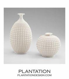 Lattice Ceramic Vases