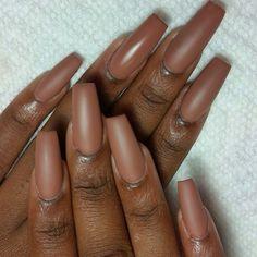 37 Lighter Warm Brown Nails Are Very Lovely nails, brown nails, natural nails,nail art Brown Nails, Dark Nails, Matte Nails, Long Nails, Matte Nail Colors, Red Nail, Oval Nails, Shellac Nails, Dark Skin Nail Polish