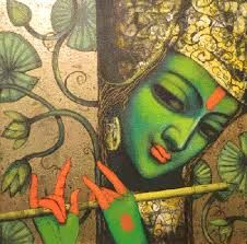 nityam singha roy paintings - Pesquisa Google Krishna Radha, Hare Krishna, Indiana, Art Deco Posters, Fantasy Images, Indian Paintings, Figure Painting, Folk Art, Art Photography