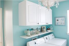 Laundry room. I love this. I wouldn't want my whole house to be super girly but this would be so cute