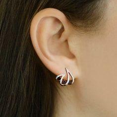 Sarah Leah Diamond Huggies : Dana Rebecca Designs