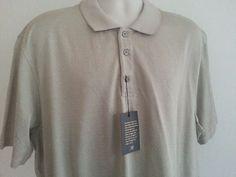 NWT Tasso Elba Men's XXL Polo Shirt Beige Geometric Henley Short Sleeve Cotton #TassoElba #Henley #ebay #TassoElba #Henley