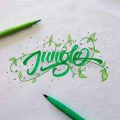 Brushpen Lettering Set 7 on Behance