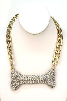 Domino Dollhouse - Plus Size Clothing: Bone Up Necklace