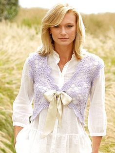 crochet vest pattern from better homes and gardens