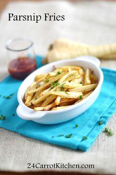 Parsnip Fries - 24 Carrot Kitchen - EASY prep, veggie alternative to spuds!