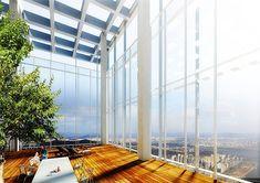 Twin skyscrapers, future tower, Seoul, Korea, Pentimonium, future architecture, future building, tower, skyscraper, concept, sky garden, futuristic construction