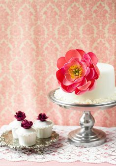 Sugar Peony and a Chocolate and Pistachio Brigadeiro Cake