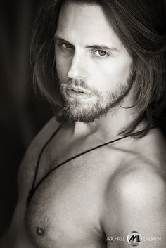 P. Bastian Welte by Michael Laurien 'malemodel #longhair #beard #dontshave #shirtless #chesthair