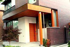EA Product: Parklex Copper 8mm  (Wood Veneer Facades) Photographer; John Cornacchione; Praxy Residential  Toronto Custom Home #brilliantbuildings