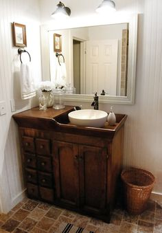 Dry Sink used as Bathroom vanity