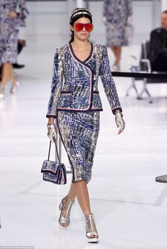 Ready for depature: Kendall looked incredible in one of the all-new ready-to-wear Chanel d...