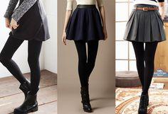 Leggings and short skirt