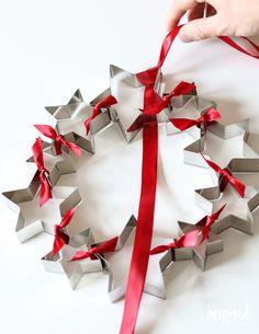 DIY Cookie Cutter Wreath | inspiredbycharm.com #IBCholiday