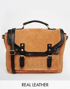 ASOS Suede and Leather Vintage Satchel Bag