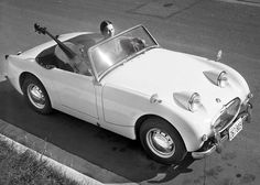 Learn more about Why We Love Them: Austin-Healey Bugeye Sprite on Bring a Trailer, the home of the best vintage and classic cars online. Vintage Sports Cars, British Sports Cars, Vintage Cars, British Car, Vintage Style Tattoos, Austin Cars, Austin Healey Sprite, Morris Minor, Vintage Classics