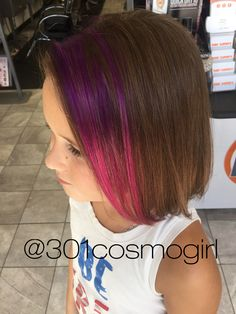 These Purple Pink Pravana Ombre Peekaboos Are Perfect For Kids Hair Color