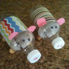 Pop Bottle Crafts | Pop bottle piggy banks.