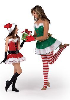 A Wish Come True Holiday : Jazz & Tap :Jingle Bells Dance Costume Christmas Dance Costumes, Christmas Pageant, Christmas Fancy Dress, Jazz Dance Costumes, Rave Costumes, Costumes For Teens, Christmas Fashion, Elf Dance, Christmas Holidays