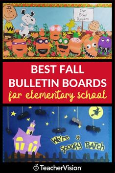 Fall bulletin boards for elementary school classrooms should be fun and colorful. Find fall bulletin board ideas here! Get the creative inspiration you need this fall with these teacher-approved classroom decor ideas—and a pumpkin spice coffee! Hallway Bulletin Boards, October Bulletin Boards, Elementary Bulletin Boards, Thanksgiving Bulletin Boards, Kindergarten Bulletin Boards, Bulletin Board Design, Christmas Bulletin Boards, Halloween Bulletin Boards, Birthday Bulletin Boards