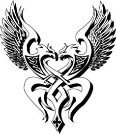 Melding Norse and Celtic beliefs. I like the shape and idea, not so much the eagles.