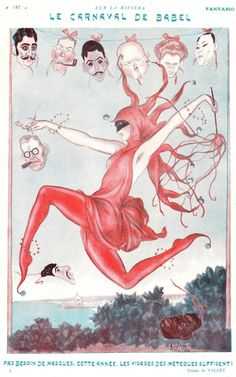 1923 Illustration by Vallee from the French magazine Fantasio which was a satirical bi-monthly publication founded by Félix Juven in 1907.
