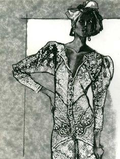 Lace illustration by Warren k. Bradley   @Warrenkbradley.com