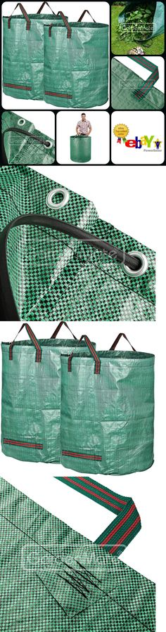 2 Pack Garden Waste Carry Bags Reusable Bag Double Stitched Webbing Handles New Garden Waste Bags, Reusable Bags, Carry On Bag, Woven Fabric, Stitch, Stuff To Buy, Ebay, Clutches, Full Stop