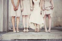 nude bridesmaids...not literally
