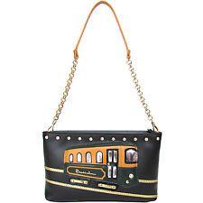 braccialini Италия трамвай женская сумка-конверт новый дизайнерский трамвай сумка, сделанная в Италии сумка