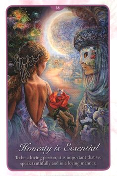 """""""38 Honesty is Essential"""" Oracle Cards Whispers of Love par Josephine Wall and Angela Hartfield"""